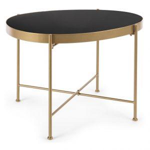 Zlatý kovový konferenční stolek Bizzotto Rashida 63 cm - Výška45 cm- Podnož move Zlatě lakovaný kov