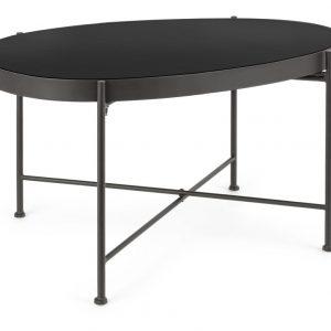 Černý kovový konferenční stolek Bizzotto Rashida 70 cm - Výška40 cm- Šířka move 70 cm