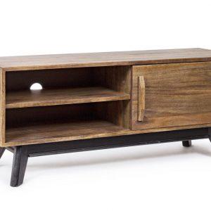 Masivní mangový TV stolek Bizzotto Emira 120x40 cm - Šířka120 cm- Výška move 50 cm