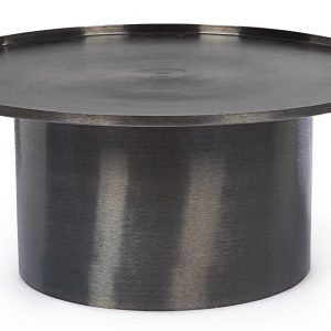 Černý kovový konferenční stolek Bizzotto Kalpita 80 cm - Šířka80 cm- Hloubka move 80 cm