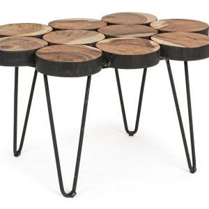 Masivní teakový konferenční stolek Bizzotto Eimi 81x56 cm - Šířka81 cm- Hloubka move 56 cm