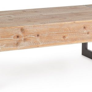 Masivní dřevěný konferenční stolek Bizzotto Garrett 120 x 60 cm - Šířka120 cm- Hloubka move 60 cm