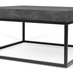Porto Deco Betonově šedý dřevěný konferenční stolek Calisto II 75 x 75 cm - Výška38 cm- Šířka 75 cm