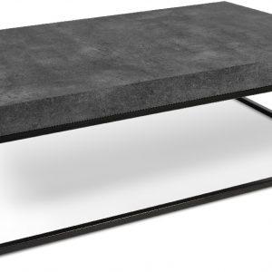 Porto Deco Betonově šedý dřevěný konferenční stolek Calisto III 120 x 75 cm - Výška38 cm- Šířka 120 cm