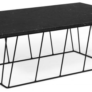 Porto Deco Černý mramorový konferenční stolek Rofus 120 x 76 cm s černou podnoží - Výška40 cm- Šířka move 120 cm