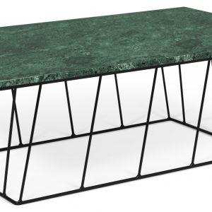 Porto Deco Zelený mramorový konferenční stolek Rofus 120 x 76 cm s černou podnoží - Výška40 cm- Šířka move 120 cm