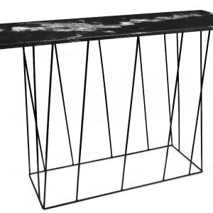 Porto Deco Černý mramorový toaletní stolek Rofus 120 x 40 cm - Šířka120 cm- Hloubka move 40 cm