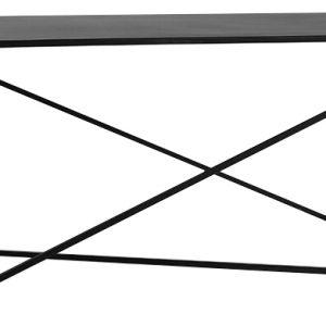 Nordic Design Černý kovový konferenční stolek Mountain 100x60 cm - Hloubka move60 cm- Výška move 60 cm