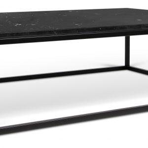 Porto Deco Černý mramorový konferenční stolek Xanti II 120 x 75 cm s černou podnoží - Výška32 cm- Šířka move 120 cm