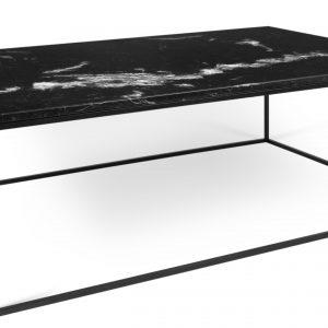 Porto Deco Černý mramorový konferenční stolek Amaro 120 x 75 cm s černou podnoží - Výška40 cm- Šířka move 120 cm