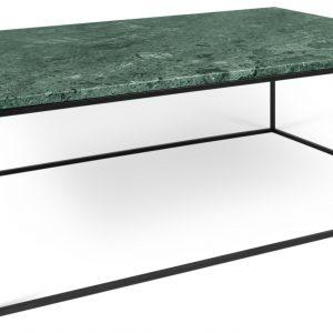 Porto Deco Zelený mramorový konferenční stolek Amaro 120 x 75 cm s černou podnoží - Výška40 cm- Šířka move 120 cm