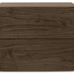 Porto Deco Ořechový noční stolek Carmo 60 x 44 cm - Výška45 cm- Šířka move 60 cm