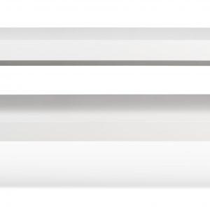 Porto Deco Matně bílý dřevěný TV stolek Falesia 235 x 38 cm - Výška20/40 cm- Šířka move 125/235 cm