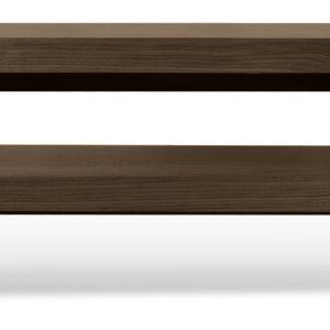 Porto Deco Ořechový TV stolek Falesia 235 x 38 cm - Výška20/40 cm- Šířka move 125/235 cm