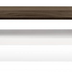 Porto Deco Matně bílý ořechový TV stolek Falesia 235 x 38 cm - Výška20/40 cm- Šířka move 125/235 cm