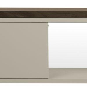 Porto Deco Šedý ořechový TV stolek Lance 203 x 35 cm - Výška20/40 cm- Šířka move 125/235 cm