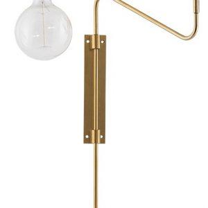 House Doctor Zlaté kovové nástěnné světlo Romeo - Výška35 cm- Světelný zdroj move 1xE27 max. 40W