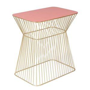 Růžovo zlatý kovový odkládací stolek BOLD MONKEY NO OFFENCE 45 x 29