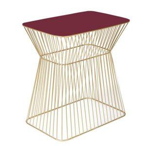 Vínovo zlatý kovový odkládací stolek BOLD MONKEY NO OFFENCE 45 x 29