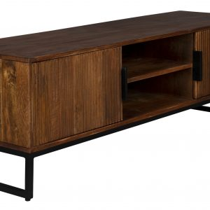 Masivní mangový TV stolek DUTCHBONE SAROO 140 x 40 cm - Výška45 cm- Šířka 140 cm