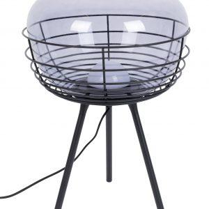 Kouřově modrá skleněná stolní lampa ZUIVER SMOKEY - Výška50 cm- Průměr 35
