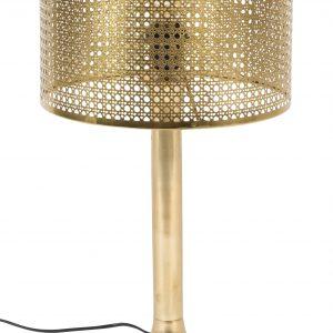 Zlatá kovová stolní lampa DUTCHBONE BARUN - Výška51 cm- Průměr 28 cm