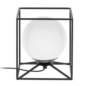 Černá kovová stolní lampa LaForma Tachi 20 cm - Šířka18 cm- Výška 20 cm
