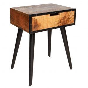 Moebel Living Přírodní masivní mangový noční stolek Lezard - Šířka45 cm- Výška 57 cm