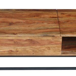Moebel Living Masivní sheeshamový konferenční stolek Rubik II 110x50-73 cm - Šířka110 cm- Výška 40-58 cm