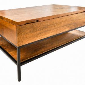Moebel Living Masivní mangový konferenční stolek Rumia 80x54 cm - Šířka80 cm- Výška 41 cm