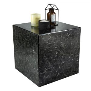 Černý žulový odkládací stolek RGE Postument 40x40 cm - Výška51 cm- Deska move Žula