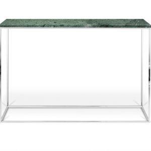Porto Deco Zelený mramorový toaletní stolek Baronet 120x40 cm se stříbrnou podnoží - Výška76 cm- Šířka move 120 cm