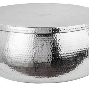 Moebel Living Stříbrný kovový konferenční stolek Cuvre 70cm - Šířka70 cm- Výška 30 cm