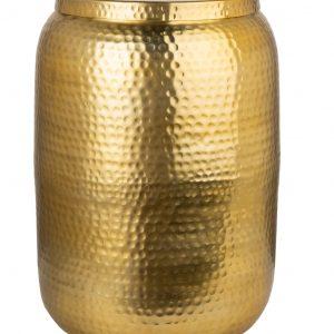 Moebel Living Zlatý kovový odkládací stolek Cuvre 35 cm - Šířka35 cm- Výška 48 cm