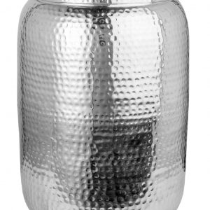 Moebel Living Stříbrný kovový odkládací stolek Cuvre 35cm - Šířka35 cm- Výška 48 cm