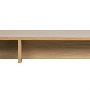 Hoorns Dubový konferenční stolek Skinner 135 x 49 cm - Výška27 cm- Šířka move 135 cm