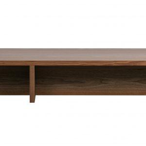 Hoorns Ořechový konferenční stolek Skinner 135 x 49 cm - Výška27 cm- Šířka move 135 cm