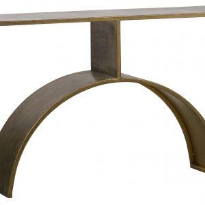 Hoorns Mosazný kovový toaletní stolek Altair 125 x 33 cm - Výška84 cm- Šířka 125 cm