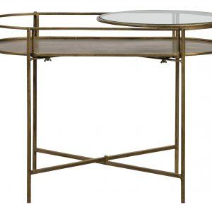 Hoorns Mosazný konferenční stolek Luten 65x37 cm - Výška46 cm- Šířka 65 cm