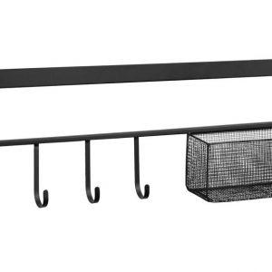 Černý kovový věšák LaForma Callia 86 cm - Výška28 cm- Šířka 86 cm