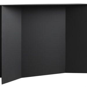 Nordic Design Černý kovový toaletní stolek Elion 100 cm - Výška75 cm- Šířka move 100 cm