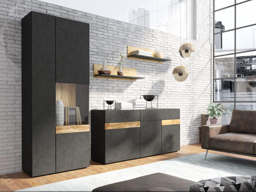 Designová obývací stěna Simon B - Inspirace a fotogalerie