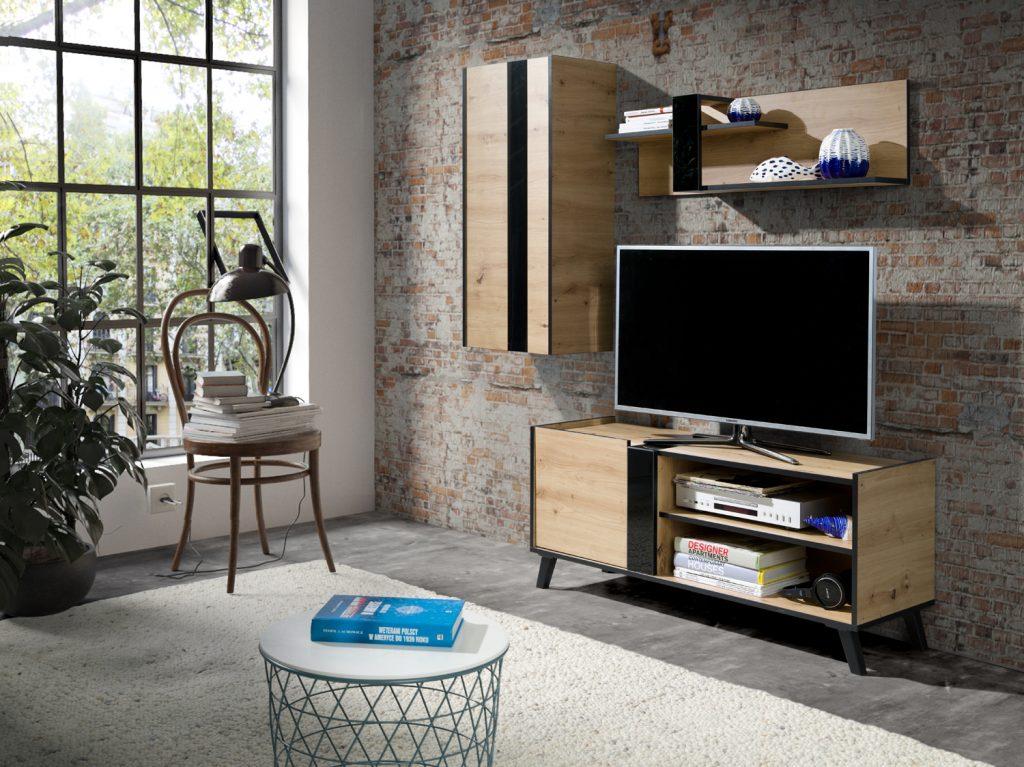Moderní bytový nábytek Fenix sestava B - Inspirace a fotogalerie