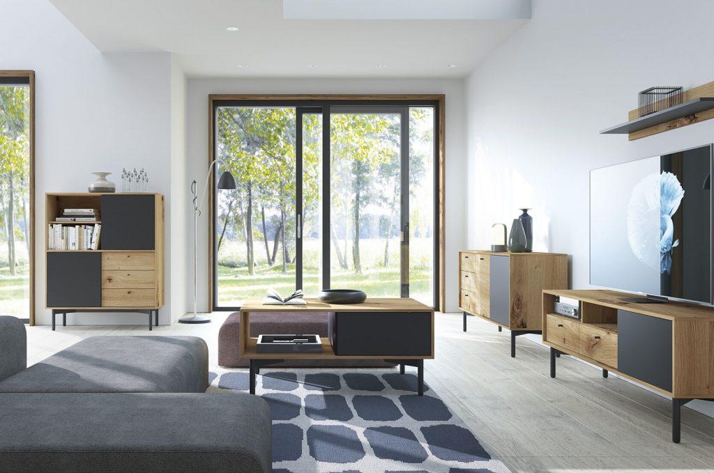 Moderní bytový nábytek Fleming sestava A - Inspirace a fotogalerie
