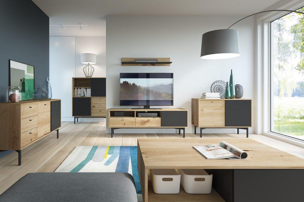 Moderní bytový nábytek Fleming sestava B - Inspirace a fotogalerie