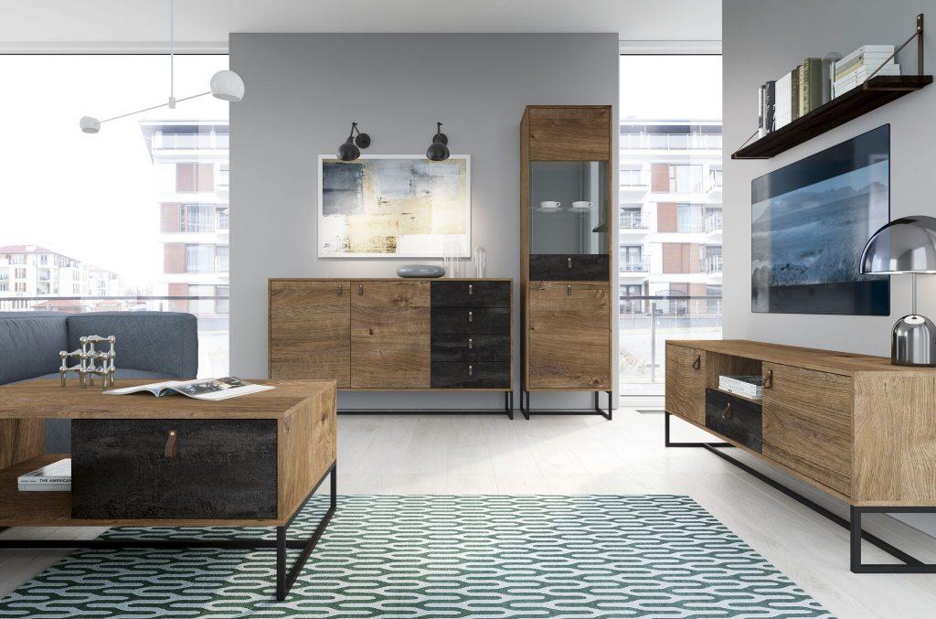 Moderní bytový nábytek Tajga sestava A - Inspirace a fotogalerie