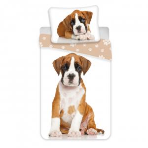Jerry Fabrics povlečení bavlna fototisk Dog brown 140x200 70x90 - MateriálBavlna- Barva Odstíny bílé