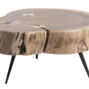 Dřevěný konferenční stolek LaForma Rousy I. 49 cm - Výška26 cm- Průměr move 49 cm