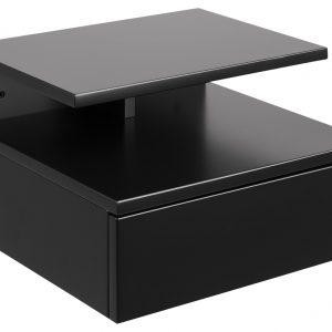 SCANDI Černý noční stolek Alison - Výška22