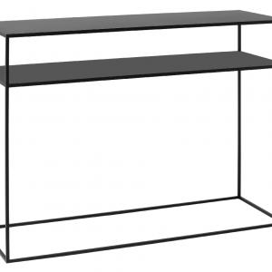 Nordic Design Černý kovový toaletní stolek Moreno II. 100 x 35 cm - Výška75 cm- Šířka 100 cm